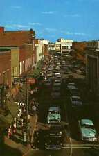 HICKORY NC Union Square Downtown Cars postcard
