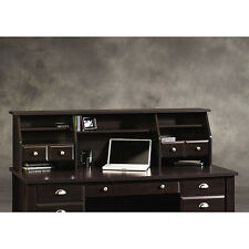 Sauder Shoal Creek Organizer Desk Hutch, Jamocha Wood