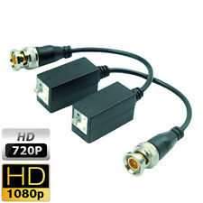 Pair of video baluns transceiver HDCVI HDTVI AHD via UTP Cat5e Cat6 Cat6e CCTV