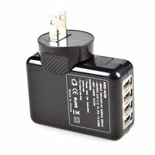Black 2.1A USB Home Travel Wall Charger 4 Port  AC Power Adapter With US Plug #1