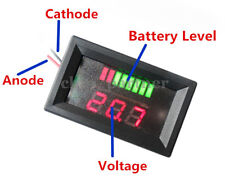 Charge Level Indicator LED Voltmeter 12V Lead-acid Battery Indikator Red 5-15mA