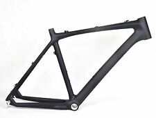 "21"" Carbon MTB Frame BSA Mountain Bicycle Clamp 135mm x 9mm QR black matt 26er"