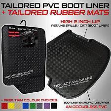 Chevrolet SPARK 2009 - 2013 Tailored PVC Boot Liner + Rubber Car Mats