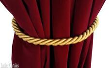 "Large Gold Window Decor Curtain Drape 36"" Long Thick Rope/Cord Tie Back Holdback"