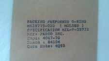 MS28775-020 Packing Preformed O-Ring - Sold in Lot of 10 each