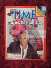 TIME Magazine April 5 1982 Apr 4/5/82 GIORGIO ARMANI Fashion Designer