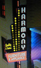 DOWNTOWN SERIES #2 ANIMATED NEON  SIGN- HO&N SCALES LIGHTS BLINKS-  LEFT VERSION