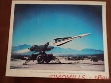 c.1960 US Army MIM-23 Hawk SAM Missile Aerojet General Poster Sign White Sands