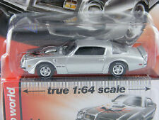 Pontiac Firebird T/A 1975 in Silber von Auto World in 1/64,Vintage Muscle Rel.4