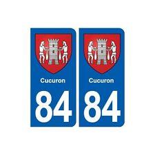 84 Cucuron blason autocollant plaque stickers ville arrondis