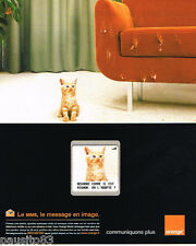 PUBLICITE ADVERTISING 085  2004  ORANGE  téléphonie mobile SSM  chat