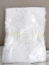NWT Pottery Barn Kids Overlapping Petals Taffeta White Crib Skirt SOLD OUT