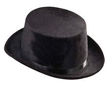 Schwarzer Zylinder in Samtoptik NEU - Karneval Fasching Hut Mütze Kopfbedeckung