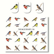 1 Sheet Nail Art Water Transfer Decal Manicure Sticker Various Birds Design DIY