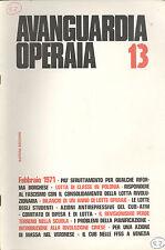 Avanguardia Operaia n° 13  Febbraio 1971