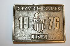 Vintage High End 1976 Olympics Heavy Brass Belt Buckle Montreal Austria