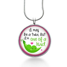 Twin Necklace- babies, two babies, mother of twins, boy ,girl, baby