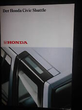 Prospekt Sales Brochure Der Honda Civic Shuttle  1980 Technik Auto  автомобиль