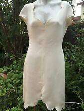 VALENTINO BOUTIQUE GORGEOUS SEXY IVORY DRESS SZ 8