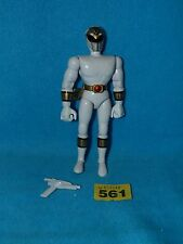 "POWER RANGERS MIGHTY MORPHIN ORIGINAL 8"" WHITE RANGER + GUN"