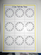 TELLING THE TIME - A4 Reusable Worksheet - KS1/KS2 NUMERACY TEACHING RESOURCE