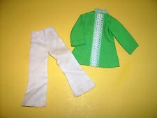 "Vtg Clone Maddie Mod Barbie 2 top pants clothes 1970s fit 11 1/2"" doll Tressy"
