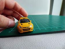 Cararama detallado 1:72 Mini Ford Focus RS Turbo amarillo calibre 00 Coche de juguete Diecast