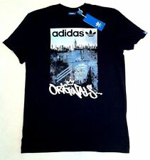 Men's ADIDAS ORIGINALS Classic Casual Black Cotton T Shirt - S Small - NEW BNWT