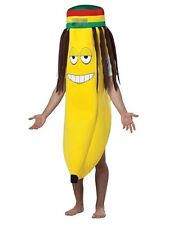 Adulto Un Tamaño Rasta Banana Outfit Fancy Dress Costume Jamaican Frutas Hawaii