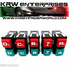 1982 PONTIAC FIREBIRD KNIGHT RIDER KITT KARR K2000 LOWER CONSOLE PUSHBUTTON SET