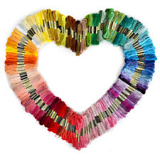 200 Different Colors Cross Stitch Cotton Embroidery Thread Sewing Floss Skeins