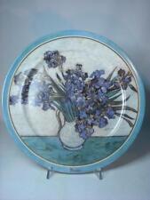 "Goebel 12.4"" Artis Orbis Plate VASE AVEC IRIS Vincent Van Gogh Ltd Ed 2000"
