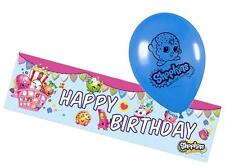 SHOPKINS Birthday Banner and Latex Balloons Set - Matching Items in My Shop