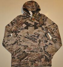 UNDER ARMOUR MEN'S XL (TALL) COLDGEAR CAMO HOODIE RIDGE REAPER BARREN NWT
