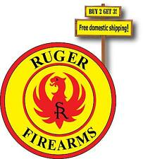 Ruger Fire Arms LOGO Vinyl Defense Guns Weapons Full Color Decal Sticker GN57