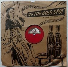 India 1944 record 78rpm with advertisement for Parle Gold Spot on the cover zaz