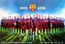 "BARCELONA FC 24 PLAYERS 2015-2016 POSTER 23""x34"" UEFA League Football Soccer"