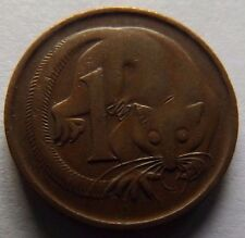 1966 AUSTRALIA ONE CENT! VERY HIGH GRADE! FEATHER-TAILED GLIDER ON COIN!