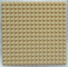 NEW TAN LEGO PLATE 5x5 inch (16X16 dot/stud) floor roof platform base board sand