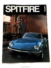 1974 Triumph Spitfire 12-page Original Car Sales Brochure Catalog