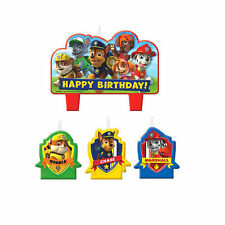 4 Piece Paw Patrol Puppy Pets Happy Birthday Cake Decoration Party Candles