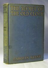 Carolyn Keene. NANCY DREW, SECRET OF OLD CLOCK. 1st ed, 1930.
