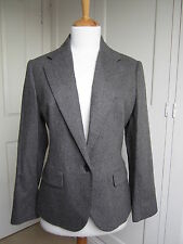 Ralph Lauren Blue Label Grey Wool Blazer Jacket  US 12 New with Tags