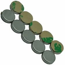 "1/2"" x 1/8"" Disc Magnets - Adhesive Backed - Neodymium Rare Earth Magnet,"