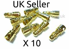10X Male 3.5mm Gold Bullet Connectors for RC Motor ESC UK 10 Items per lot X10
