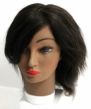 "ANNIE COSMETOLOGY BEAUTY MANNEQUIN HEAD 100% HUMAN HAIR 14""-16"" EUNICE (#4808)"
