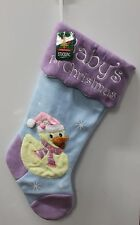 YELLOW DUCKY BABY'S FIRST CHRISTMAS STOCKING Boys Girls Infant Holiday Decor NEW