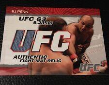 BJ Penn UFC 2009 Topps Fight Mat Relics #FM-BJP