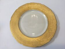 Rare Vintage Heinrich & Co. Selb Bavaria Pickard 22k Gold Encrusted Dinner Plate