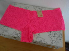 New nobo Bright Pink Lace Cheeky Tanga Panty Panties stretchy XL/XXL